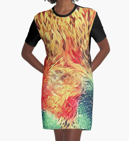 Artificial neural style wild cat Graphic T-Shirt Dress