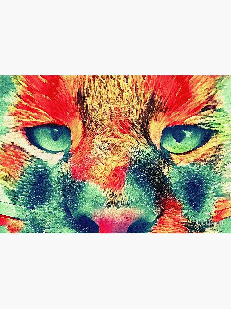 Artificial neural style wild cat by blackhalt