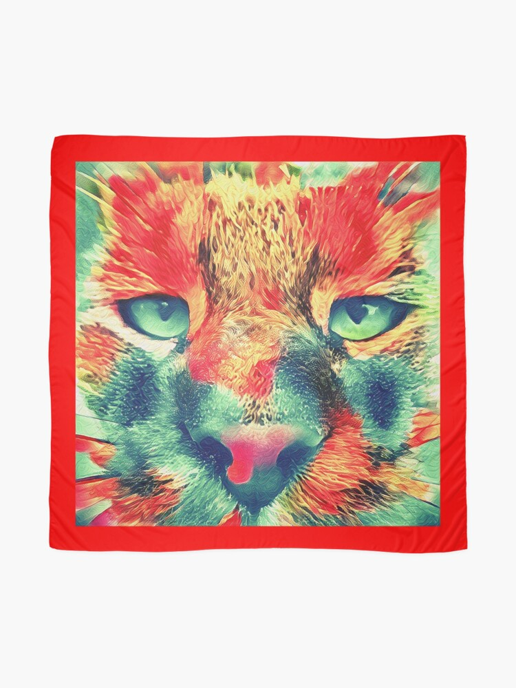 Alternate view of Artificial neural style wild cat Scarf