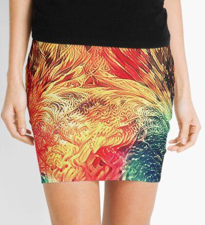 Artificial neural style wild cat Mini Skirt