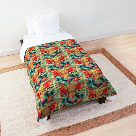 Artificial neural style wild cat Comforter