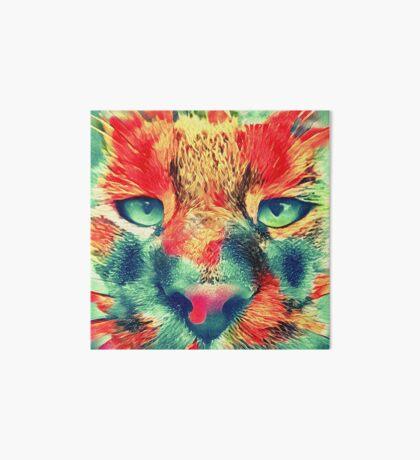 Artificial neural style wild cat Art Board