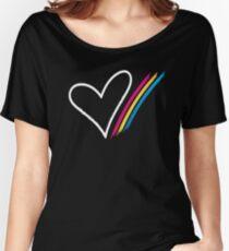 Heart Stripe - T-Shirt Women's Relaxed Fit T-Shirt