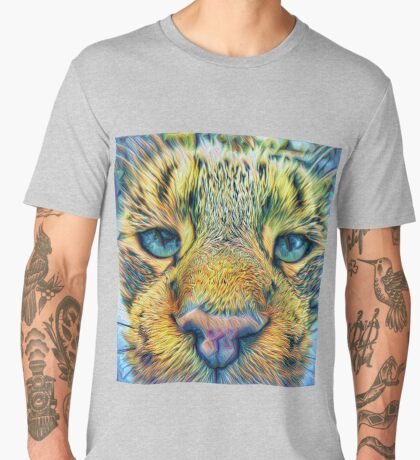 #DeepDreamed Cat v1449127170 Men's Premium T-Shirt