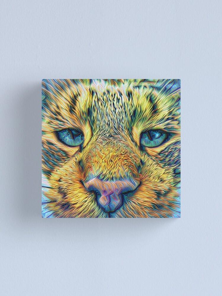 Alternate view of #DeepDreamed Cat v1449127170 Canvas Print