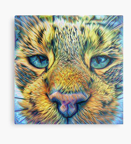 #DeepDreamed Cat v1449127170 Metal Print