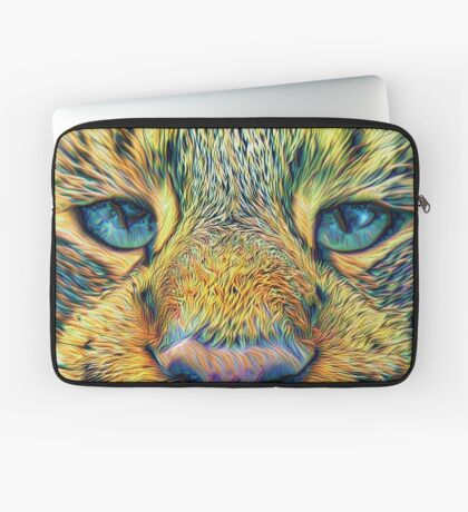 #DeepDreamed Cat v1449127170 Laptop Sleeve