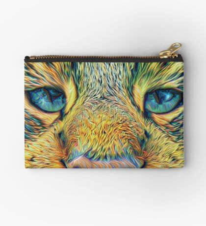 #DeepDreamed Cat v1449127170 Studio Pouch