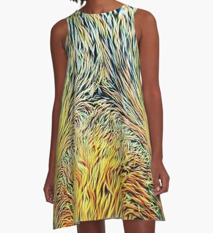 #DeepDreamed Cat v1449127170 A-Line Dress