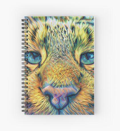 #DeepDreamed Cat v1449127170 Spiral Notebook