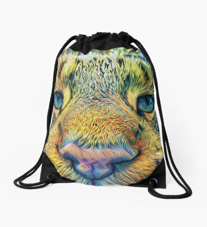 #DeepDreamed Cat v1449127170 Drawstring Bag