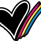Heart Stripe Sticker by CartoonHeart