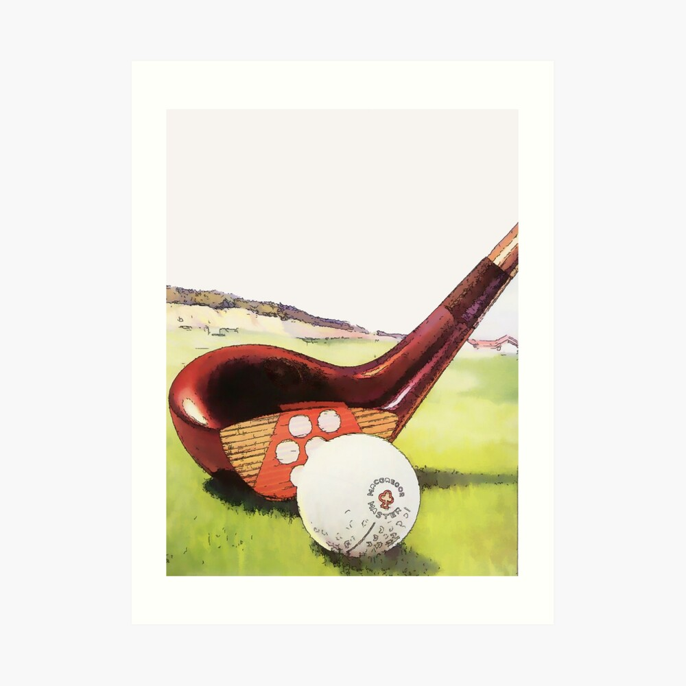 Weinlese-Golf-Kunst - Zwanzigerjahre Kunstdruck