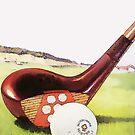 Weinlese-Golf-Kunst - Zwanzigerjahre von Marlene Watson