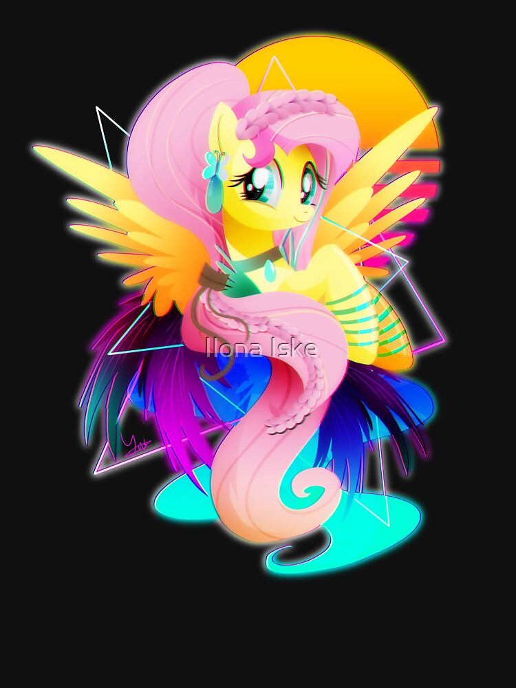 Synthwave Fluttershy by TornadoTwist