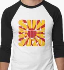 Sunshine 3020 BLOCK TEXT Men's Baseball ¾ T-Shirt