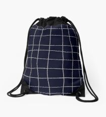 Sapphirine bars of different width Drawstring Bag