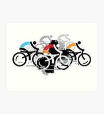 Cyclists Art Print