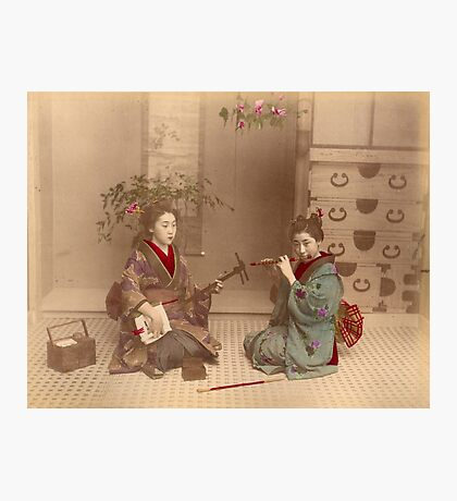 Japanese girls playing music Photographic Print