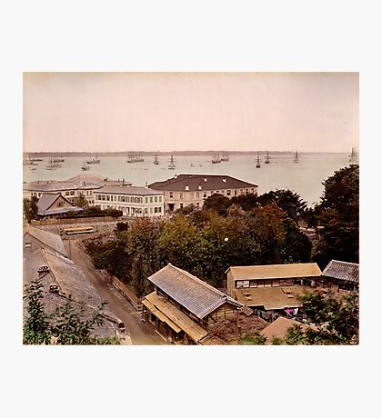 Yokohama harbour, Japan Photographic Print