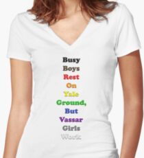 Resistor Code 15 - Busy Boys... Women's Fitted V-Neck T-Shirt