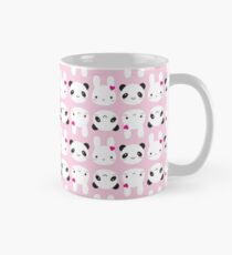 Super Cute Kawaii Bunny and Panda (Pink) Mug