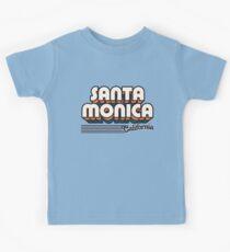 Santa Monica, Kalifornien | Retro Streifen Kinder T-Shirt