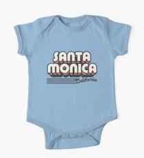 Body de manga corta para bebé Santa Monica, California   Rayas retro