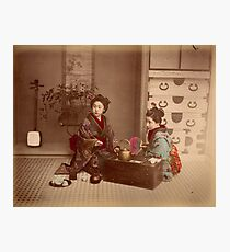 Japanese girls, meiji period, Japan Photographic Print