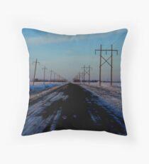 Manitoba Farm Road Throw Pillow