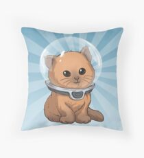 Keep Calm Kitty Throw Pillow