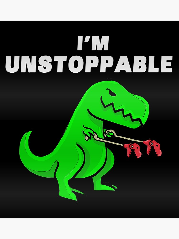 Unstoppable Funny Dinosaur t rex tee gift graphic mens Tank Top Vest