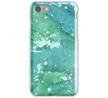 Blue Police Box - Bluegreen Galaxy I iPhone Case/Skin