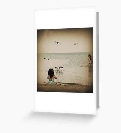 Here come the seagulls Greeting Card