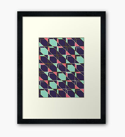 Ultra Deco 2 #redbubble #ultraviolet #artdeco Framed Print