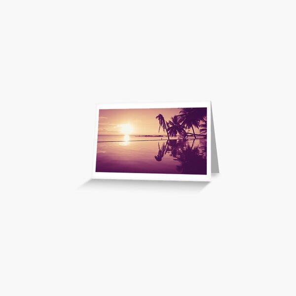 Paradise sunset Thailand Greeting Card