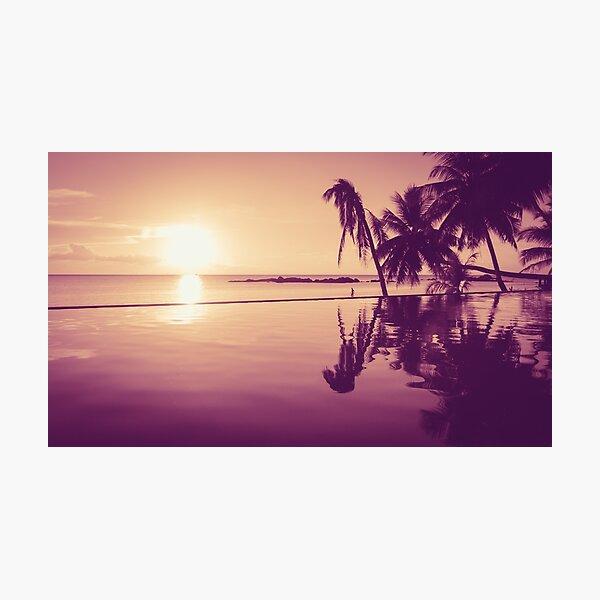 Paradise sunset Thailand Photographic Print