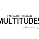 I contain multitudes - walt whitman by razvandrc