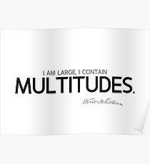 I contain multitudes - walt whitman Poster