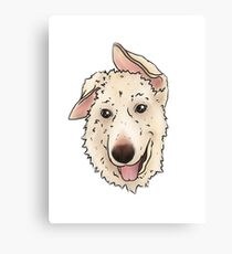 Another Mia the Dog (Transparent)  Canvas Print