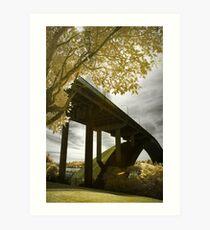 Gladesville Bridge in Framing Art Print