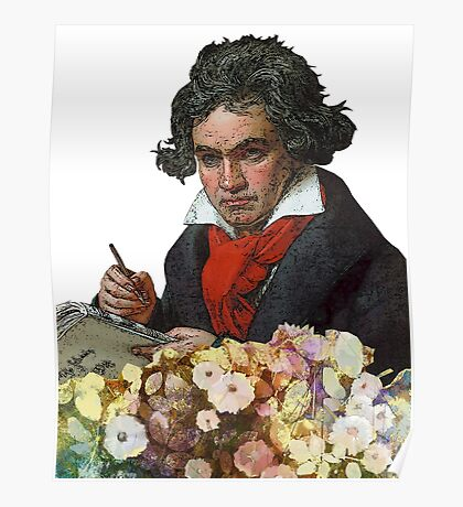 Ludwig von Beethoven Grunged II Poster