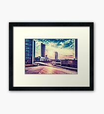 Business sunrise Framed Print