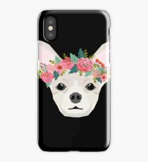 Chihuahua dog breed floral crown chihuahuas lover pure breed gifts  iPhone Case