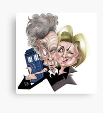 Dr Who Caricature Canvas Print