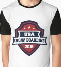 USA Snow Boarding Pyeongchang 2018!  Graphic T-Shirt