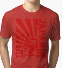 Vintage Japan Rising Sun Kanji T-Shirt Tri-blend T-Shirt