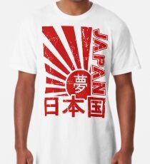 Weinlese-Japan-aufgehende Sonne-Kandschi-T-Shirt Longshirt