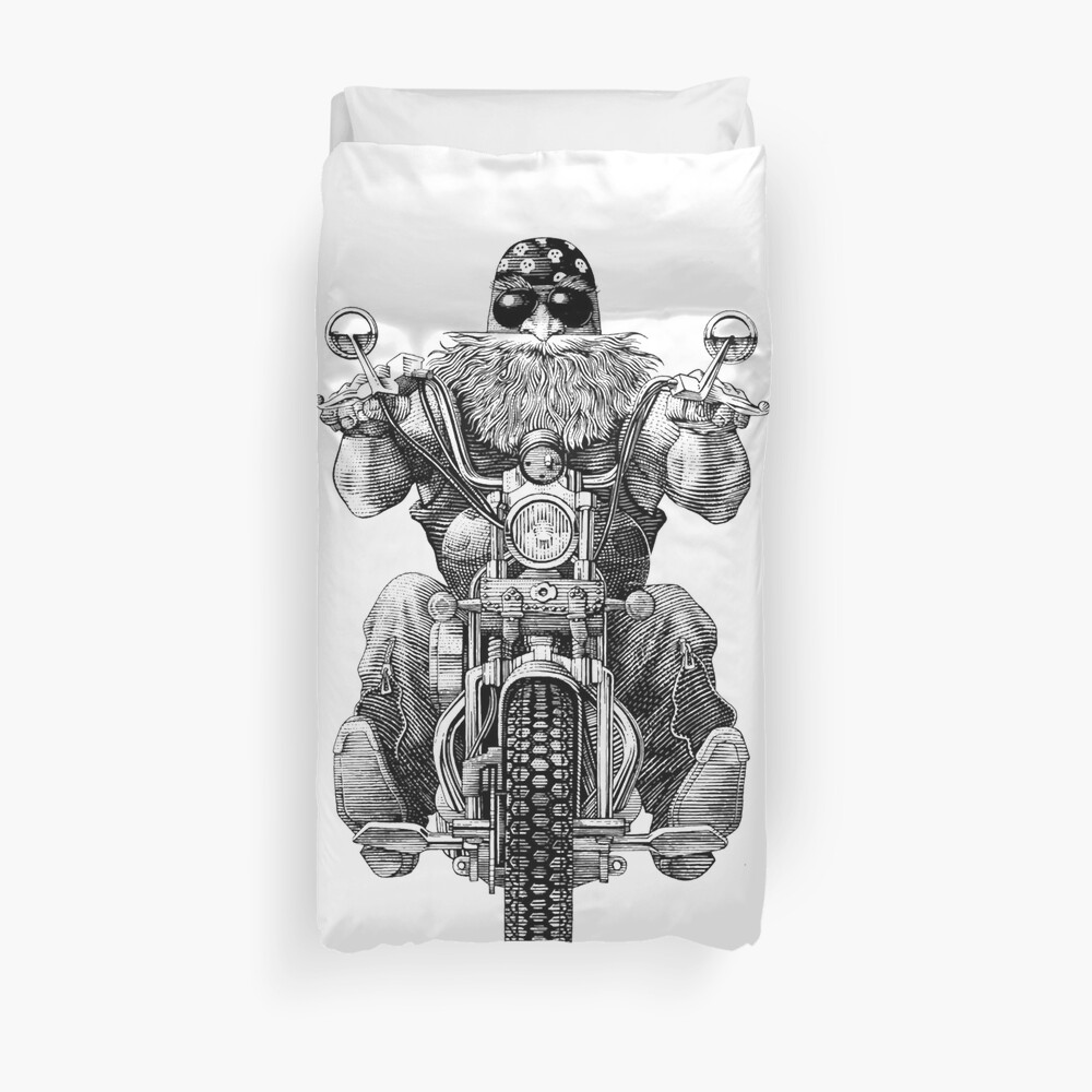 Fine A Man With Harley Davidson Duvet Cover Caraccident5 Cool Chair Designs And Ideas Caraccident5Info
