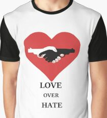 Love I hate guns Heart Peace Graphic T-Shirt